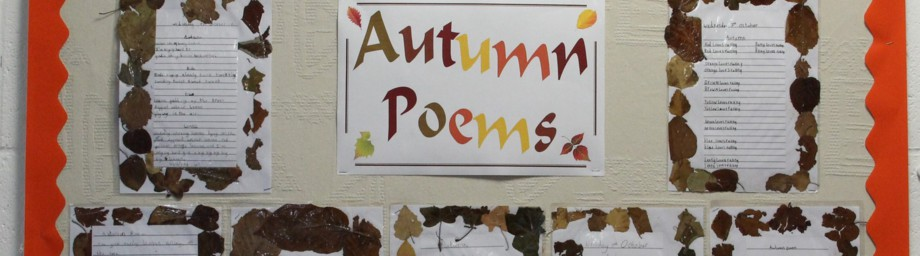Image showing an Autumn poem display