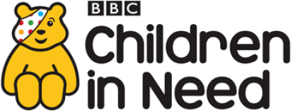 Children in Need logo with Pudsey Bear